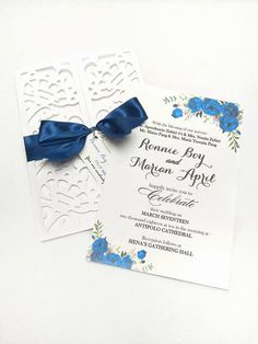 LASER CUT WEDDING INVITATION WHITE Early Reservation Discounted Rate P 150.00 Regular Rate P 200.00 Minimum of 20 pieces SET includes (1) Main Invitation (1) Principal Sponsors (1) Secondary Sponsors (1) RSVP (1) MAP FREE SHIPPING WITHIN METRO MANILA
