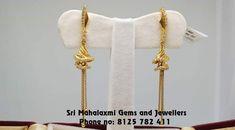 Gold Ring Designs, Gold Earrings Designs, Gold Jewellery Design, Gold Jewelry, Beaded Jewelry, Jute Silk Saree, Gold N, Ear Rings, Mehndi Designs
