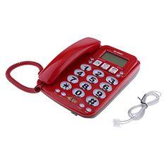 FITYLE Téléphone Fixe à La Maison D hôtel Cadran Rapide Amplifié Photo  Téléphone Kx-2035cid  Amazon.fr  High-tech c843d7801526