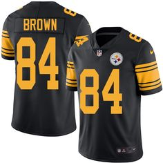 Men's Nike Pittsburgh Steelers #84 Antonio Brown Elite Black Rush NFL Jersey