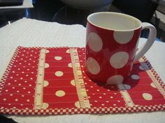 Polka dot placemat.  WILL MATCH MY RED KITCHEN ...