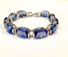 Vintage Sterling Silver Blue Sapphire Estate by WOWTHATSBEAUTIFUL