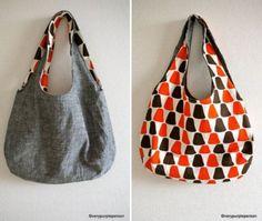 Reversible Bag. 27 Trendy Free Handbag Patterns To Sew - Tip Junkie