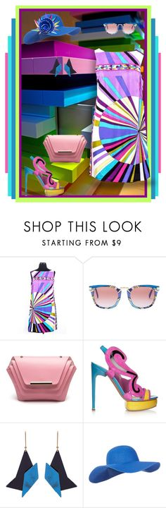 """""""Geometry and Fashion: Cool Rainbow"""" by judymjohnson ❤ liked on Polyvore featuring Emilio Pucci, Ellia Wang, Nicholas Kirkwood, STELLA McCARTNEY and Accessorize"""