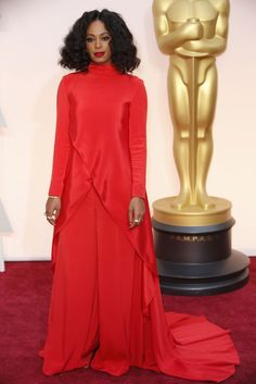 Solange Knowles in Christian Siriano at The Oscars 2015. Click to see more of our editors' favorite red carpet looks from the 87th Academy Awards. (Photo: Noel West for The New York Times)