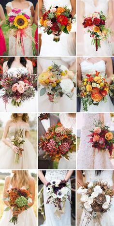 gorgeous autumn wedding bouquet ideas for fall brides