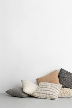 neutral country road cushions