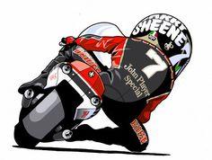 Flat Track Motorcycle, Motorcycle Style, Racing Bike, Motocross, Grand Prix, Gp Moto, Bike Illustration, Speed Bike, Cycling Art