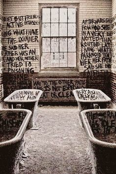 abandoned Manteno State Hospital - Kankakee County, Illinois - has a history of horrific tortures, and the creepy bathtubs tell a sad, scary story