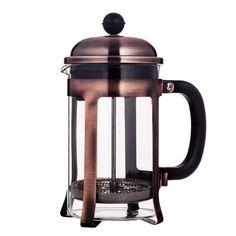 Mandarin-Gear Copper Stainless Steel French Press Coffee Maker, 28 oz / 800 ml