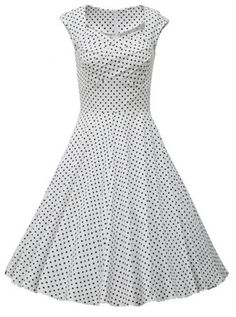 Retro Sweetheart Neck Polka Dot Print Sleeveless Dress For Women