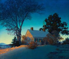 Painting by Maxfield Parrish