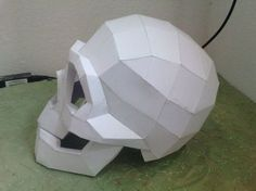 Life Size Skull Helmet Free Papercraft Template Download - http://www.papercraftsquare.com/life-size-skull-helmet-free-papercraft-template-download.html#Helmet, #LifeSize, #Skull