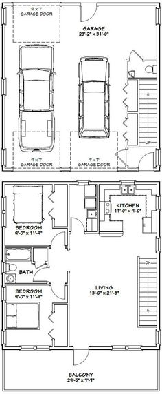Build a Shed on a Weekend - PDF house plans, garage plans, shed plans. More Build a Shed on a Weekend - Our plans include complete step-by-step details. If you are a first time builder trying to figure out how to build a shed, you are in the right place! Apartment Entrance, Garage Apartment Plans, Garage Apartments, Apartment View, House Entrance, Garage Loft Plans, Above Garage Apartment, Garage Blueprints, Garage Ideas