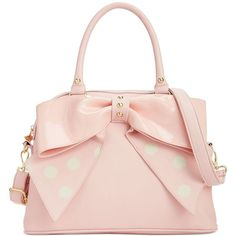 Betsey Johnson Macy's Exclusive Dome Satchel (€78) ❤ liked on Polyvore featuring bags, handbags, pink handbags, faux leather purses, betsey johnson purse, satchel purses and betsey johnson satchel