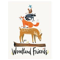 Woodland Friends by IdlewildCo on Etsy