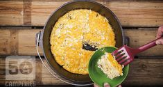 Sausage And Hashbrown Dutch Oven Breakfast Bars - 50 Campfires