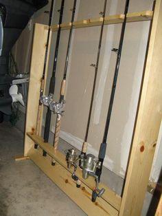 fishing rod rack diy fishing rod holder