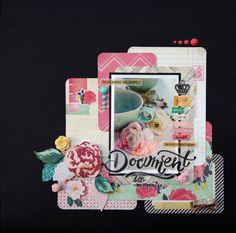 #Papercraft #scrapbook #layout. Rachel Millington for Hey Little Magpie, Jan 2015