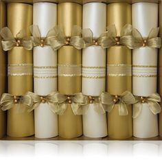 Gold and Silver crackers that look awesome on any Christmas table