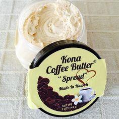お土産シリーズ?第2弾! HAWAIIのお土産 Kona Coffee Butter。 カフェオレの香りのするバタークリームという感じでしょうか… 今日はパンにつけていただきましたが、ベーグル、パンケーキも美味しそう! オアフでもなかなか手に入らないらしく、貴重な一品をいただきました♪ あぁ、ハワイに行きたいなぁ… #お土産#konacoffeebutter #ハワイ#hawaii