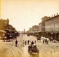 Massachusetts Street, Lawrence-1867. Really cool historical Lawrence and Leavenworth photos!