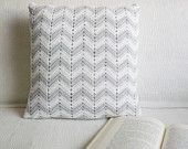 crocheted chevron pillow- yellow