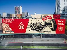 "SHEPARD FAIREY , ""Be a Maker Not a Taker"" for the Life is Beautiful project curated by JUSTKIDS in Las Vegas, USA, 2016"