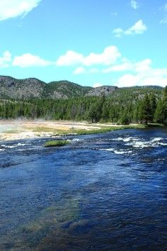 Firehole River, a naturally heated river :)