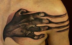 awesome 3d clover hand tattoo Men images