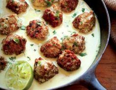 THAI TURKEY MEATBALLS 4 shiitake mushrooms 1½ lbs. ground turkey ...