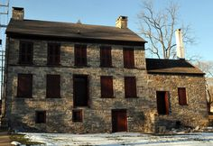Hunt Homestead - Phillipsburg, NJ - Hunt Homestead, circa 1758, is famous for being the wintering spot for 60 Revolutionary War cavalry horses. It's also rumored to be home to a ghost. The woman's apparition, wearing a dark hood, passes by the kitchen window toward the back door, then vanishes. The ghost has traveled this route hundreds of times since the building's 1976 renovation; her identity is unknown.
