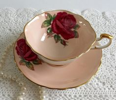 Signed Paragon China Tea Cup and Saucer by NicerThanNewVintage