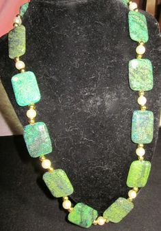 green mosaic necklace  20.00$