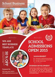 School Education Flyer Bundle #Education, #School, #Bundle, #Flyer