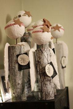 U nás na kopečku Primitive Christmas, Christmas Tag, Christmas Angels, All Things Christmas, Decor Crafts, Diy And Crafts, Diy Angels, Angel Crafts, Craft Show Ideas