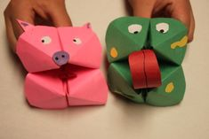 Frog & Pig Puppets. These are easy to make and would be something your kids could do to contribute to the shoe box!