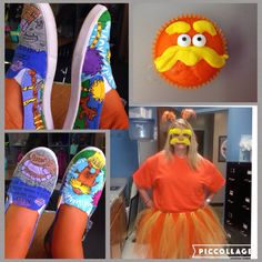 The Lorax by Dr.Seuss costume for Read Across America Week                                                                                                                                                      Mais