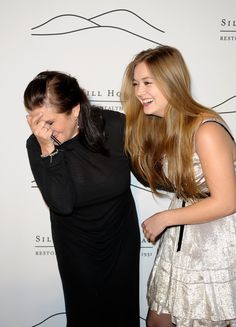 NEW YORK, NY - NOVEMBER 03:  (L-R) Actress and author Carrie Fisher with daughter Billie Lourd attend the 2011 Silver Hill Hospital gala at Cipriani 42nd Street on November 3, 2011 in New York City.  (Photo by Ilya S. Savenok/FilmMagic) via @AOL_Lifestyle Read more: http://www.aol.com/article/entertainment/2016/12/27/actress-carrie-fisher-dead-at-60/21642781/?a_dgi=aolshare_pinterest#fullscreen