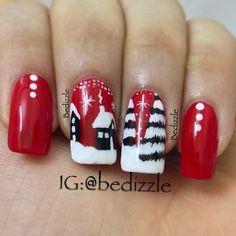 winter Christmas #nail #nails #nailart