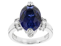 Remy Rotenier For Bella Luce(R)Lab Created Sapphire/Diamond Simulants Rhodium Over Sterling Ring