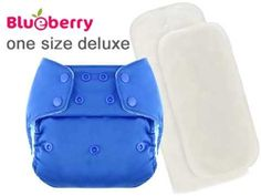 Minky One Size Cloth Diapers - Blueberry Cloth Diapers