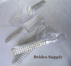 6 Piece Faux Rhinestone Bling Candy Buffet Scoops by BridesSupply, $15.00