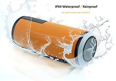Special Offers - Bluetooth Speaker Basstyle Universal Portable IPX4 Water Resistant Wireless Speaker CSR 4.0 Bluetooth Speakerphone for Outdoors Sports Riding Camping BBQ and Home Kitchen Bath Shower (TB-26S Orange) - In stock & Free Shipping. You can save more money! Check It (September 10 2016 at 11:39AM)…