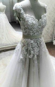 Unique Custom Crochet Beaded Lace Dress, A-line Wedding Dress, Designer…