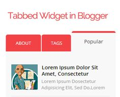 How to Add a jQuery Tabbed Sidebar Widget in Blogger ~ My Blogger Lab