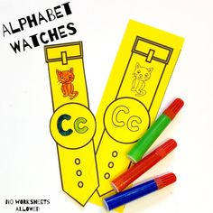 Teach your students the alphabet with this FUN phonics activity! Children should color their watch, cut it out and then wear it for the day. An ENGAGING way to get children excited about recognizing letter names and sounds! Hands On Learning, Learning Resources, Learning Activities, Creative Teaching, Teaching Ideas, Fun Phonics Activities, Initial Sounds, Alphabet Games, Fall Cleaning