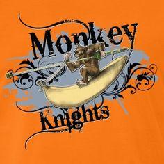 shirt Motiv Monkey Knights Affe Ritter blaugrau - Männer Premium T-Shirt