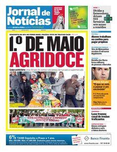 Confira a capa do Jornal de Notícias desta quarta-feira, 2 de maio.