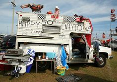 2008 NASCAR Fans and their camper